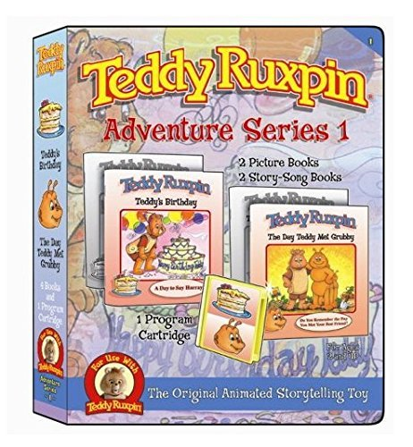 6 Stories and 2 Music Programs Adventure Treasure and Music Series Educational Book for Kids Teddy Ruxpin Favorite Software Series Bundle Program Cartridge Perfect Present for Birthday Party