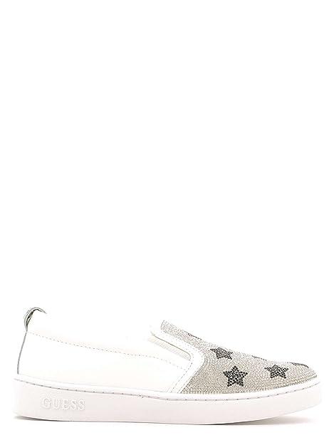 Guess Flglo3 Esu12 Mocasines Mujer Blanco, Talla 35: Amazon.es: Zapatos y complementos