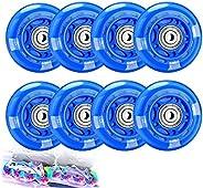 TOBWOLF Light Up Inline Skate Wheels, LED Roller Skate Wheels, LED Flash Flashing Replacement Wheel with ABEC-