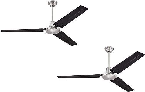 Ciata Lighting Industrial 56 Inch Three Blade Indoor Ceiling Fan