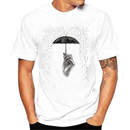 472a3cf928ef9 LuckyGirls Camisetas Hombre Originales Manga Corta Estampado de Paraguas  Verano Running Jogger Deporte Polos Músculo Remera