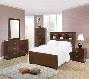 Coaster Queen Bed, Cappuccino