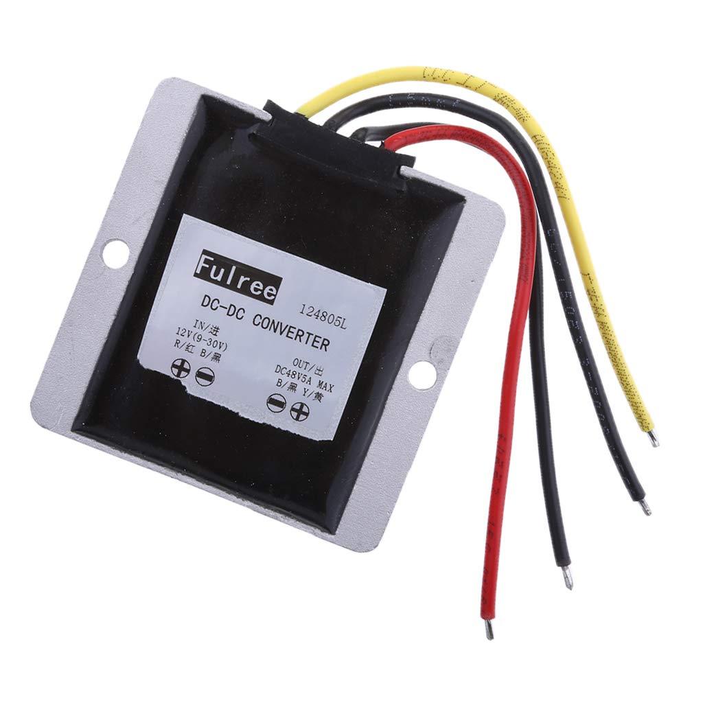 IPOTCH Impermeable M/ódulo de Potencia Repuestos El/éctricos del Coche Fuente de Alimentaci/ón Convertidores 12V 24V a 48V//5A