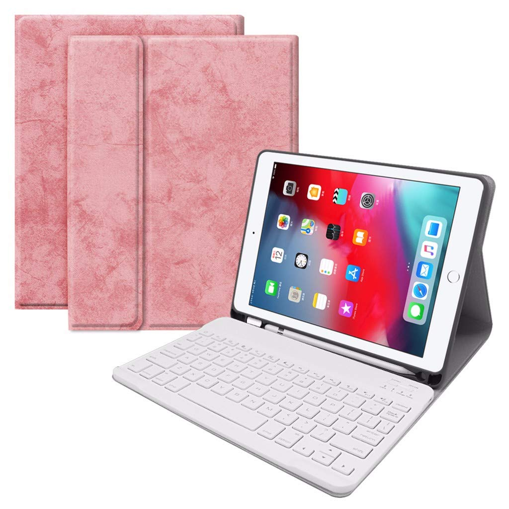 VICCKI Foldable Keyboard,Wireless Keyboard Premium Leather Keyboar for iPad Pro 9.7