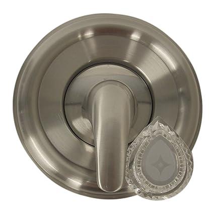 Moen Push Pull Shower Faucet.Danco 10002 Universal Moen Trim Kit Clear Brushed Nickel