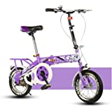 YEARLY Children's Foldable Bikes, Student Folding Bicycles Light Portable Pupils Foldable Bikes For 6-10 Years Old