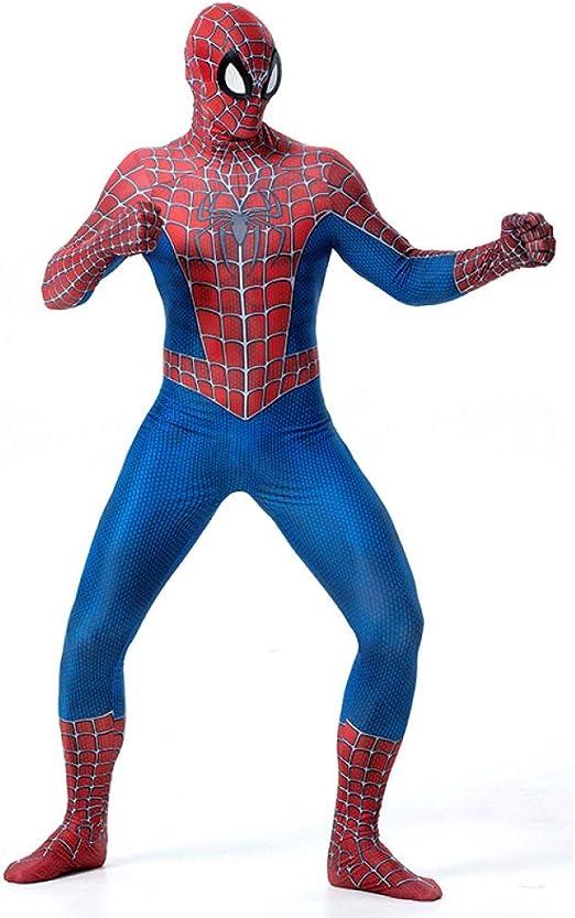 KOUYNHK Disfraz Spiderman Niño,Halloween Superhéroe Traje Elástico ...