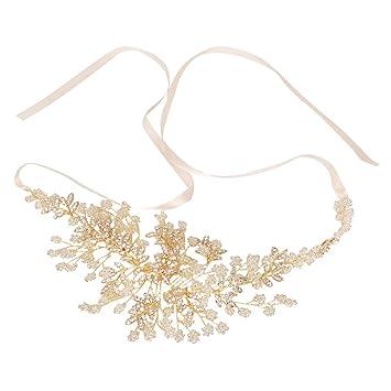 MagiDeal Braut Haarband, Perlen Stirnband, Strass Haarreif, Hochzeit ...