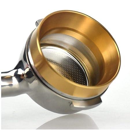 3 Farben Kaffee Dosier Ring Trichter Aluminium für Portafilters Espresso 58mm