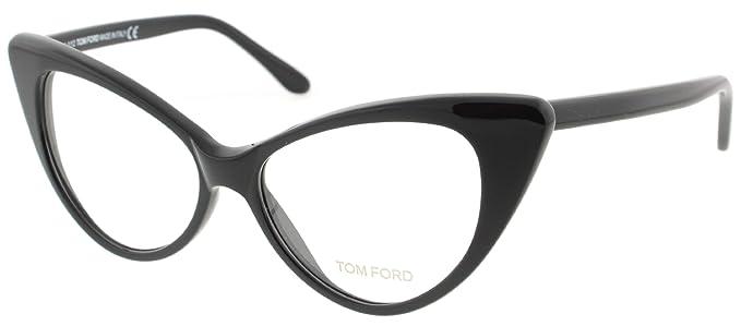 Amazon.com: Tom Ford anteojos Negro 5224 Gatos Ojos anteojos ...