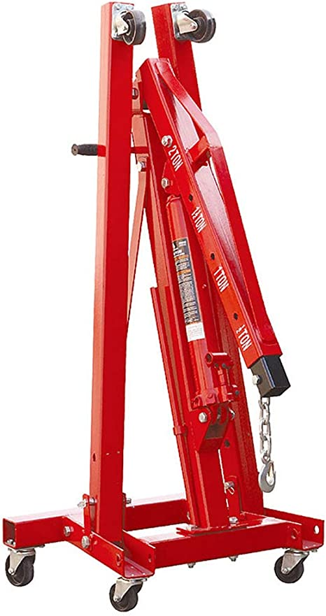 Red Mgcdd-Car Organizer 2 Ton Folding Crane Hydraulic Truck Engine Hanger Engine Lifting Crane Pulley Hoist Jack