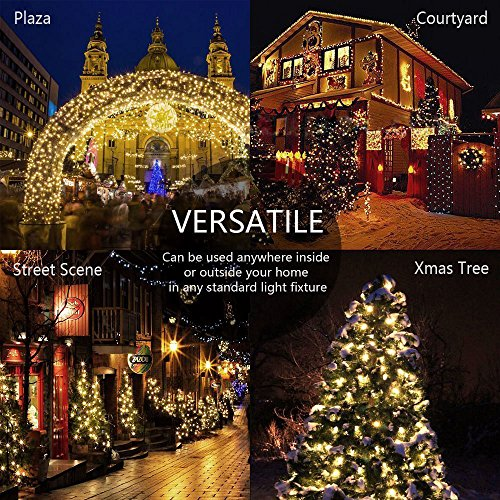 Patio Chirstmas Tree Garden And Home Decoration Wedding 33ft 100leds Cool White Indoor Outdoor Led String Light With 8 Flash Changing Modes Fairy Twinkle Decorative Light For Party Controller,Front New Dream House Home Design