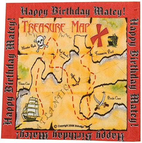 Pirate Beverage Napkins Package of 16 Party Supplies Decorations