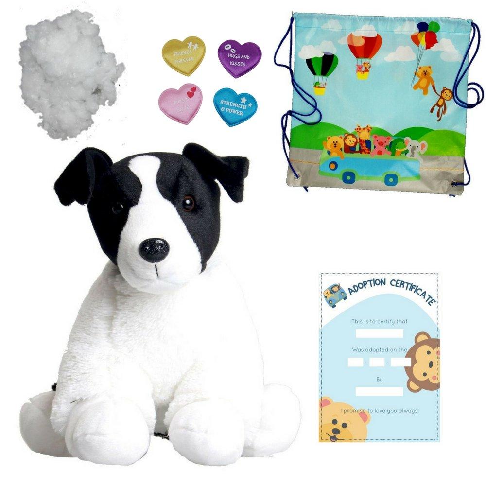 Perro Blanco y Negro - Peluche 25cm - kit para crear un oso de ...