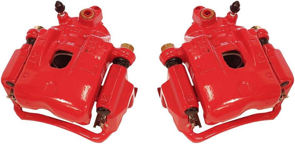 Hardware Kit Ceramic Brake Pads Callahan CCK03618 FRONT Premium Red Coated Caliper Pair