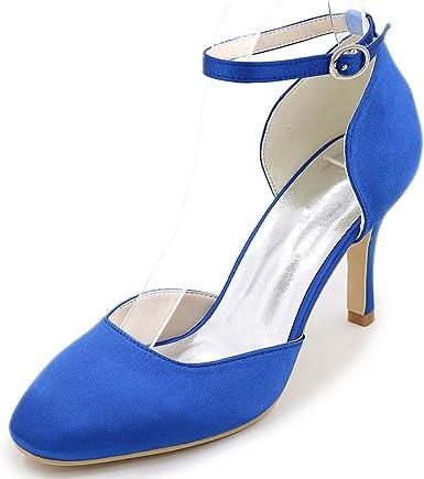 Sandali Sneaker Con Blu 5 Cm Cinturini Scarpe Tacco Alla