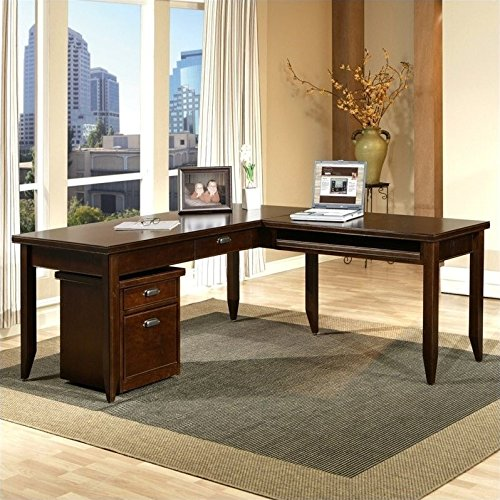 Martin Furniture Tribeca Loft L-Shape Wood Writing Desk in Cherry
