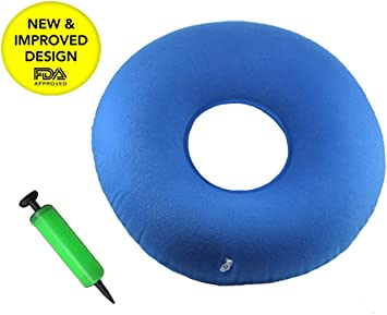 Inflatable Seat Cushion >> Anhua Inflatable Seat Cushion Portable Foldable Ring Pillow Medical Home Blue