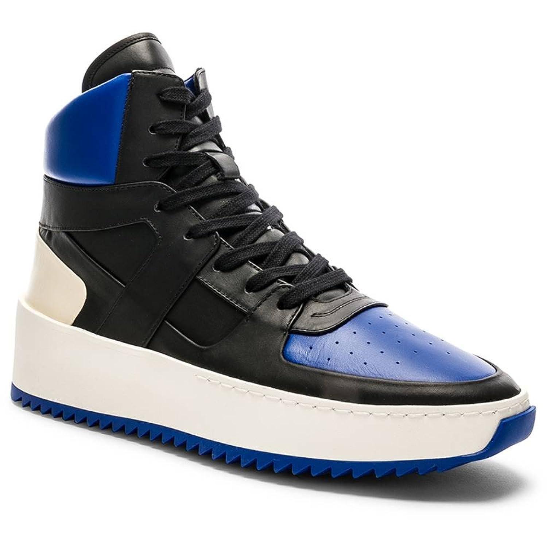 (フィアオブゴッド) Fear of God メンズ シューズ靴 スニーカー Leather Basketball Sneakers [並行輸入品] B07FJ71VR8