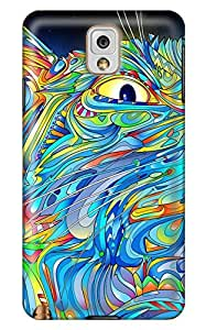 Simply Case Design Multicolor Cat Cover For 3d Samsung note3