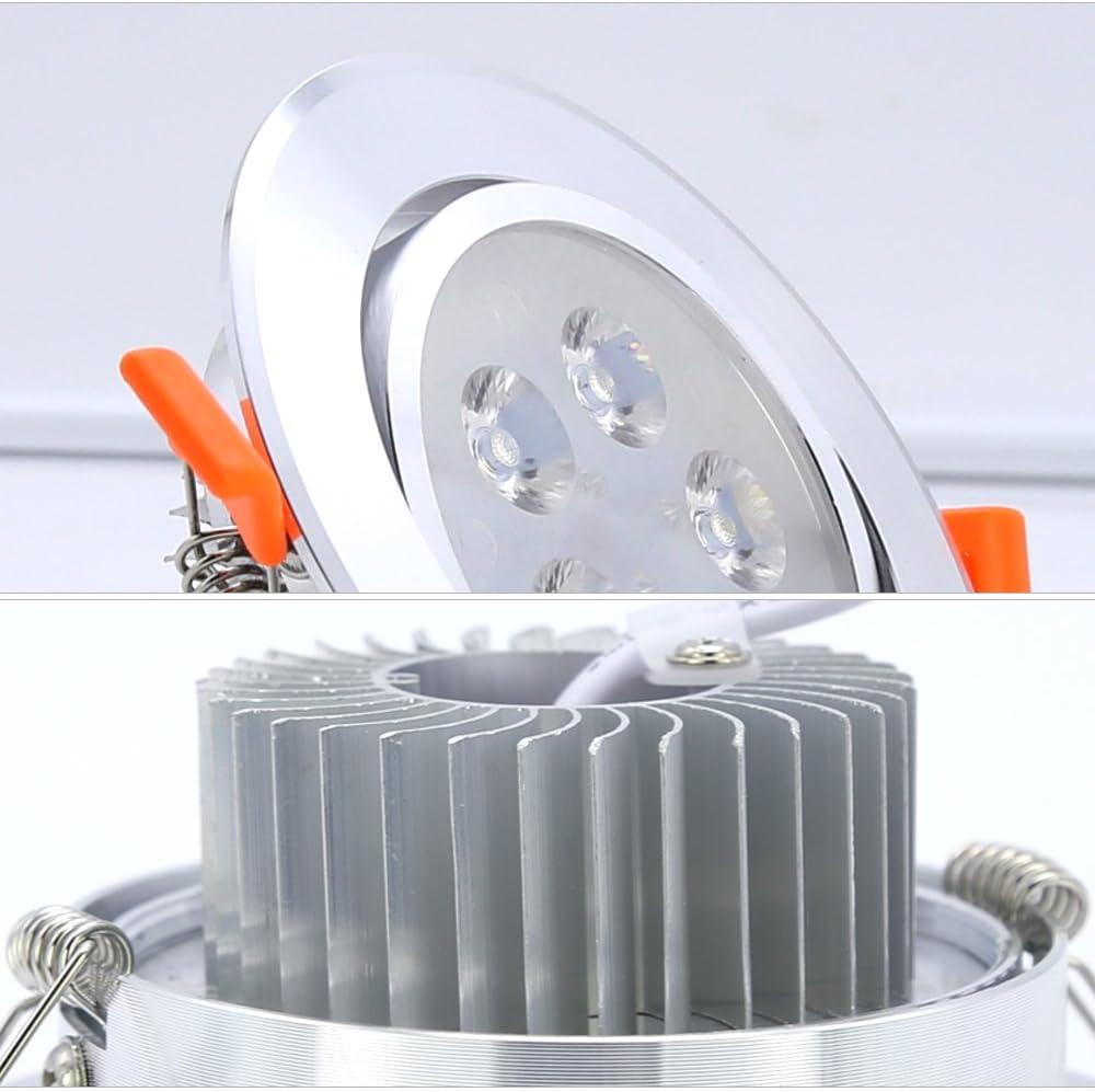 Hengda® 20 x 3W LED Einbauleuchte Wohnzimmer Decken Leuchte Lampe Spot Strahler Set 2800-3200k Warmweiß 85-265V AC 10pcs Kaltweiß
