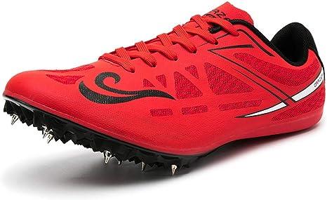ZLYZS Pistas de Atletismo, Zapatillas de Atletismo Junior Zapatillas de Deporte de Entrenamiento para Correr Picos de Carrera Unisex Picos de Sprint: Amazon.es: Deportes y aire libre