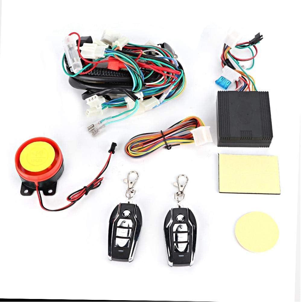 Akozon Wiring Harness Start Switch Coil Remote Speaker Kit Fits for 50cc 70cc 125cc Quad ATV Bike