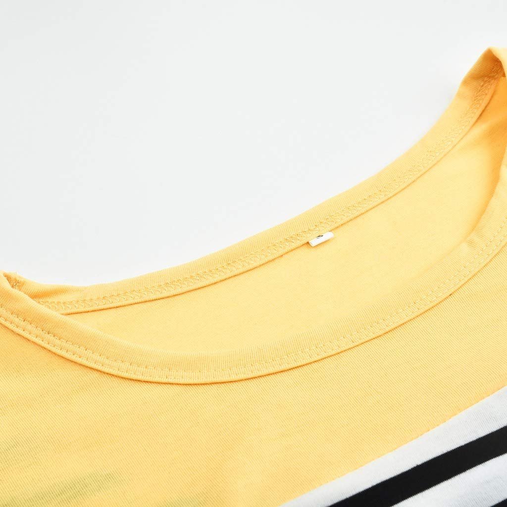Camisetas de Lactancia Materna para Mujeres Camiseta de Lactancia A Rayas de Manga Larga Top Informal