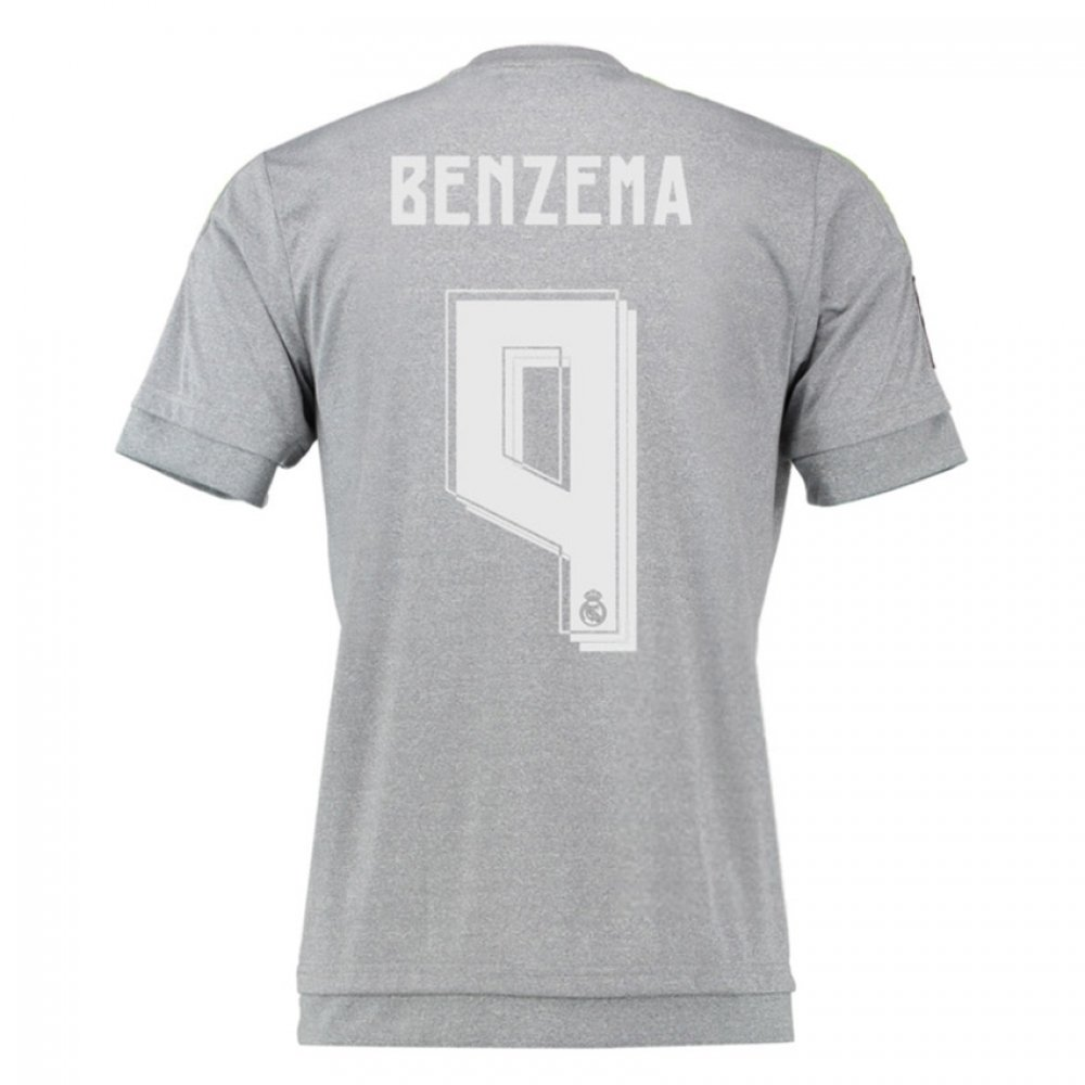 2015-16 Real Madrid Away Shirt (Benzema 9) B077VKWM5LGrey XL 44-46\