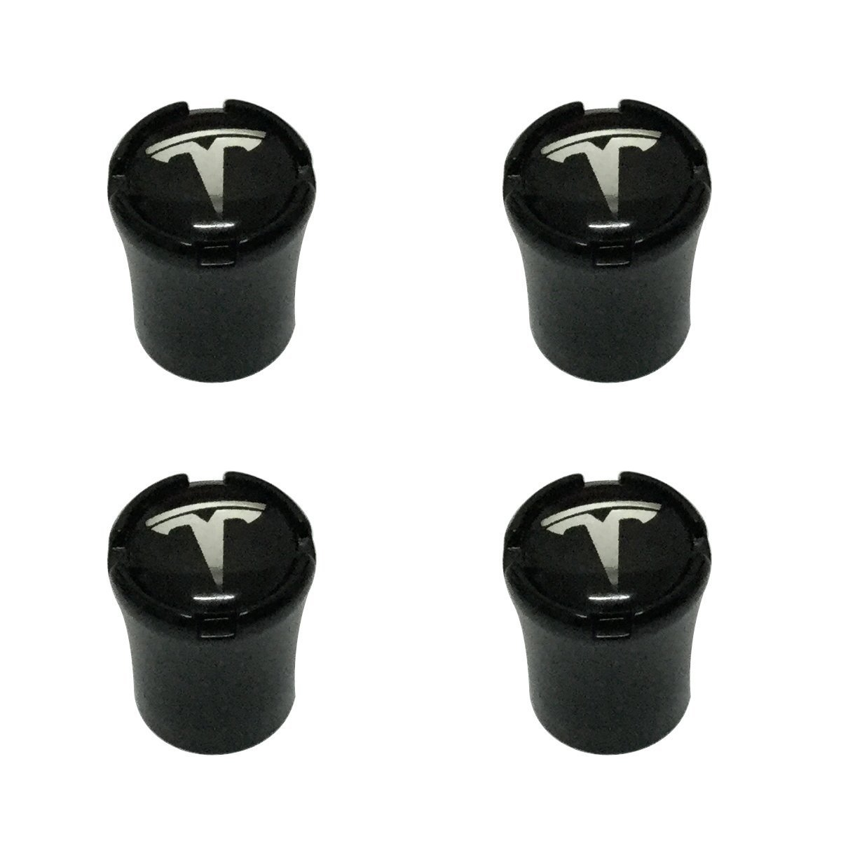 New USA Fast Ship 4pcs Black Color Car Dustproof Caps Tire Wheel Stem Air Valve Caps Cover Car Accessories Compatible Fit For Electric Sedan SUV Car Design (TESLA) Tampa