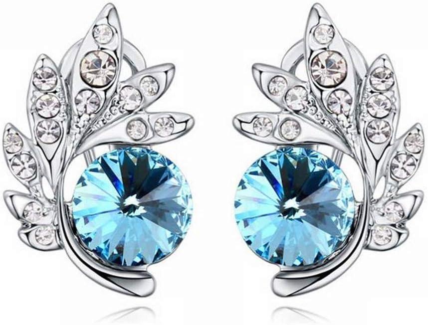 Good dress Pendientes de Cristal para Mujer, diseño de Hojas