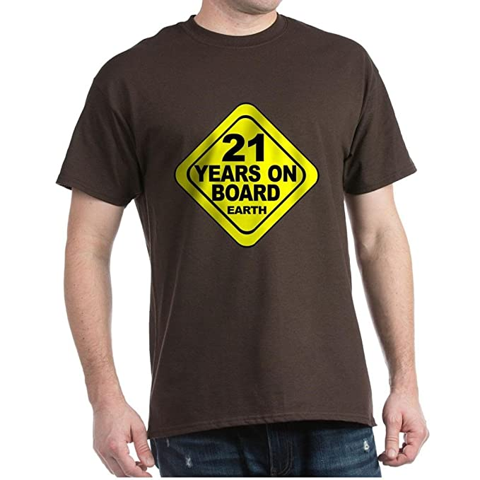 Amazon CafePress 21St Birthday 100 Cotton T Shirt Brown Clothing