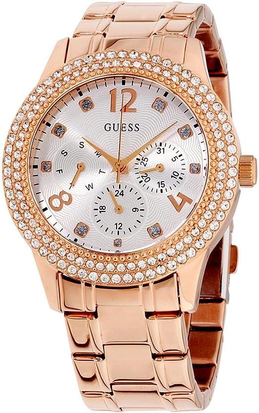 Amazon.com: Guess Bedazzle W1097L3 - Reloj de pulsera para ...