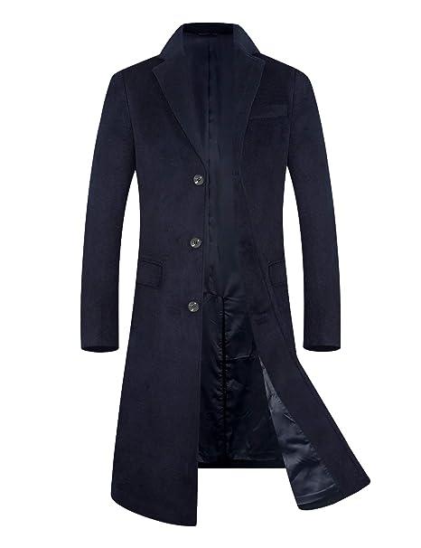das Neueste suche nach authentisch Neueste Mode BJXYY Herren Mantel Wintermäntel Lang Wolle Mäntel männer Winterjacke  Trenchcoat Bussinesmantel