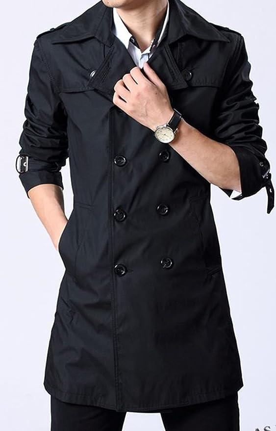 34c47eeb14c0 Amazon | (ニカ)メンズ ロングコート おしゃれ コート 春 秋 薄手 コート ジャケット | コート・ジャケット 通販