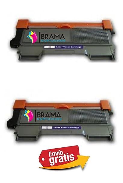 Bramacartuchos - 2 x Tóners compatibles con Brother Tn-2220/2010 ...