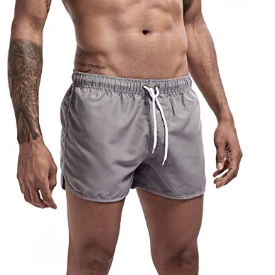 Mens Athletic Workout Running Shorts with Drawstring Solid Lightweight Quick Dry Beach Swim Joggers Sweat Shorts: Clothing [5Bkhe0506814]