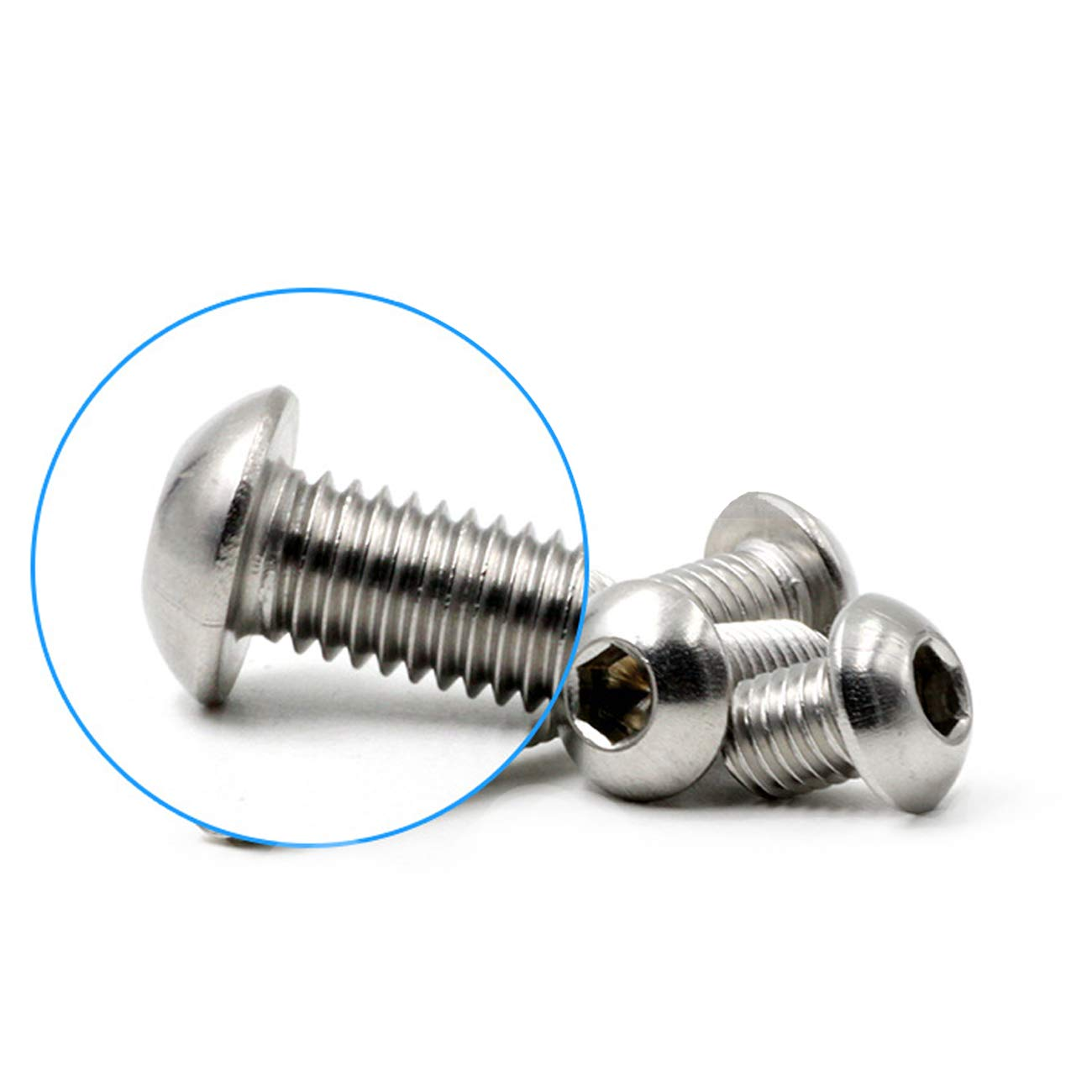LICTOP Button Head Socket Cap Screws 1//4-20 3//4 Allen Hex 18-8 Stainless Steel Bolts 50 Pack
