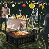 Yaheetech Multifunctional Fire Pit Table 32in