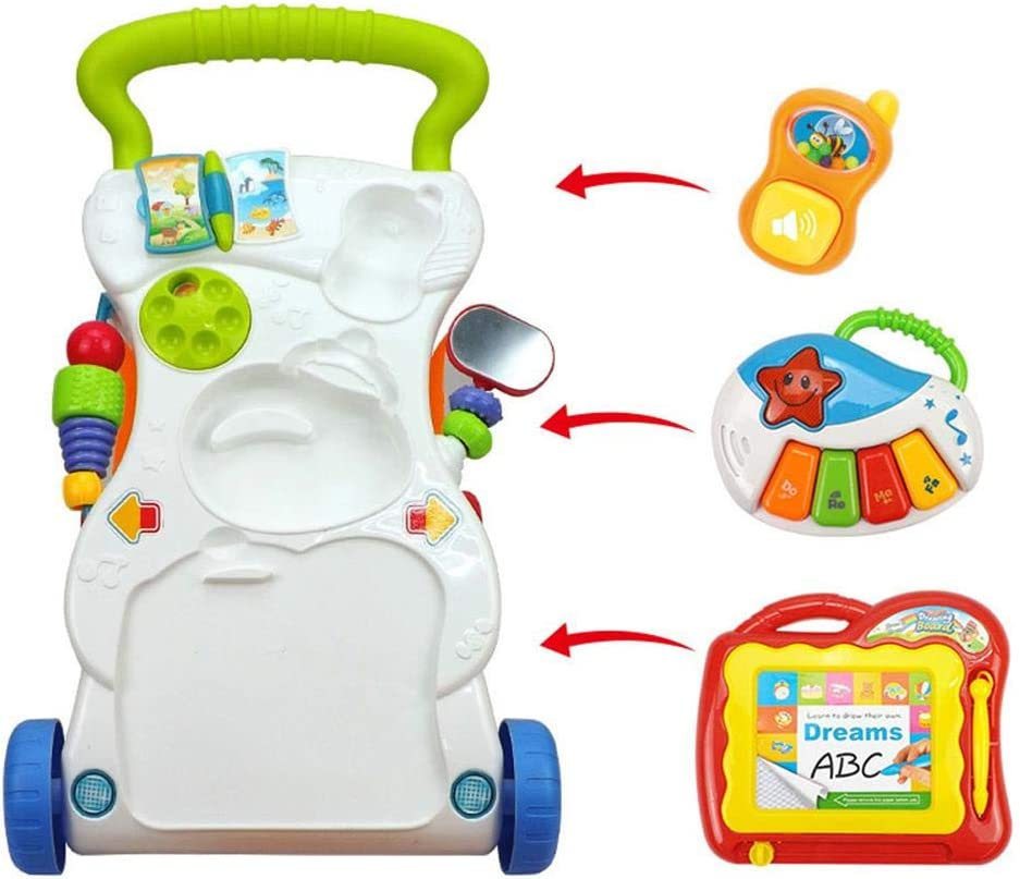 Kids Toys Gifts Multi-function Baby Walker lembrd Baby Walker Push Along Musical Sound /& Light Activity