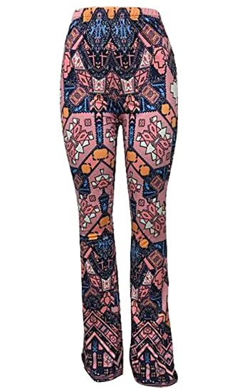 183855da95663 Oberora Womens Wide Leg Long Palazzo Bell Bottom Yoga Pants at Amazon  Women s Clothing store