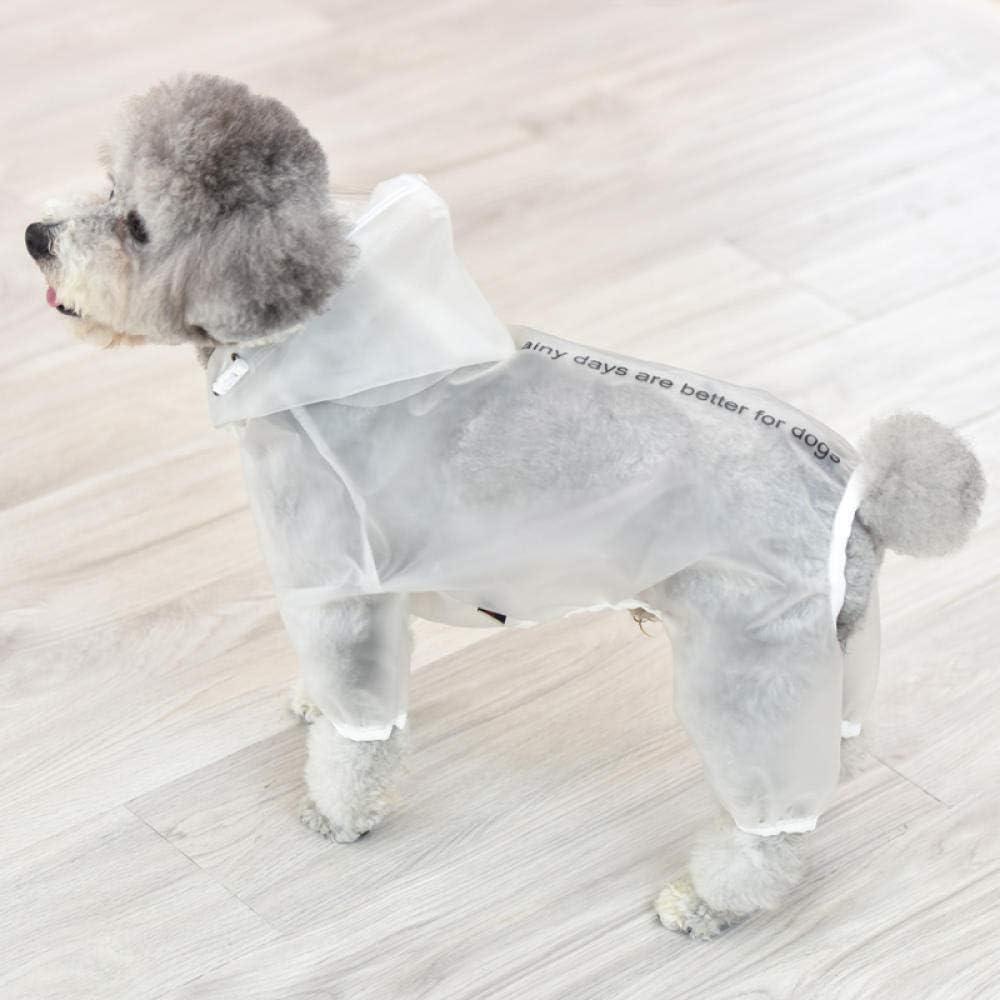 4 Fu/ß TAYIBO Wintermantel Warm Hundekleidung,Regenmantel f/ür Welpenhunde pink/_10 wasserdicht und transparent Teddy Poncho pet