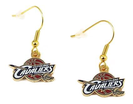 NBA Cleveland Cavaliers Logo Dangle Earrings Charm Gift Set