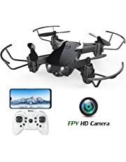 EACHINE Drone Camera HD E61HW Quadcopter Drone avec caméra Mini Drone pour l'enfant Facile à diriger