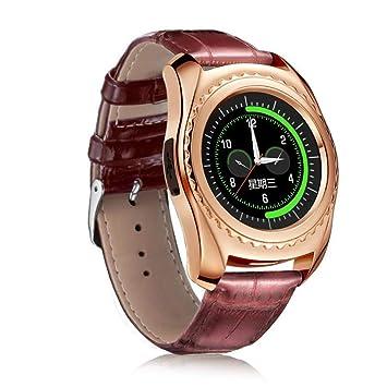 ZLOPV Pulsera Activa Bluetooth Reloj Inteligente Soporte SIM TF ...
