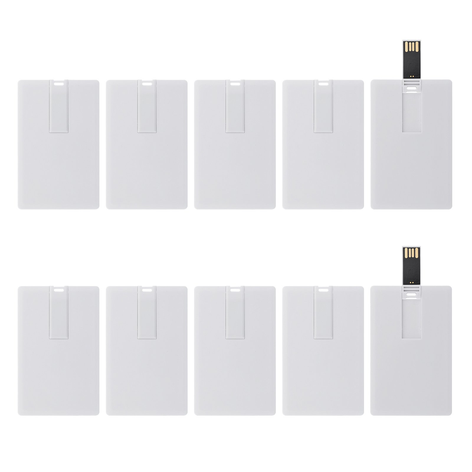 KEXIN 100pcs Bulk 1GB Credit USB Flash Drive Bulk Business Credit Card Shape USB Drives Memory Stick Pendrive 1G White