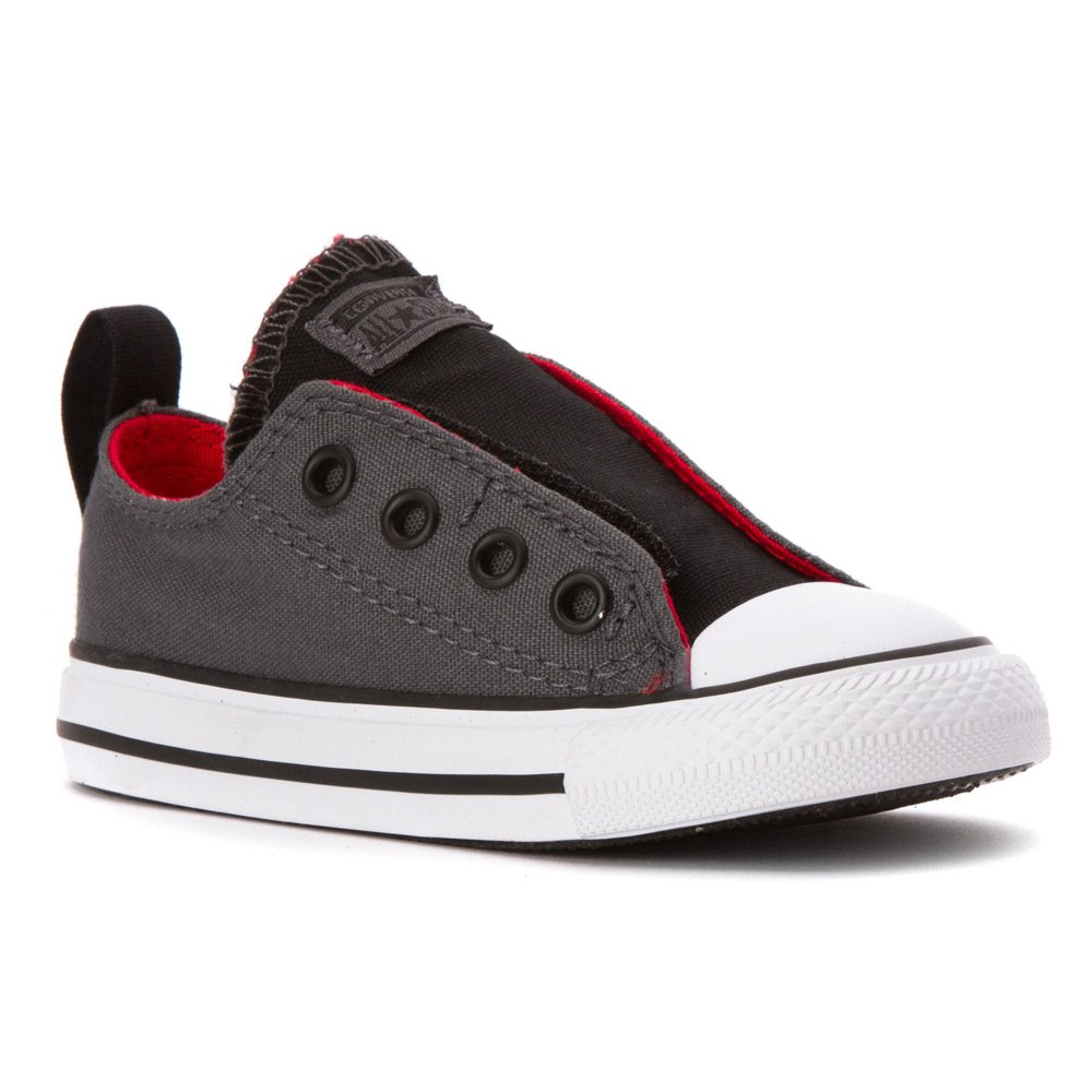 Converse Kids Baby Boy's Chuck Taylor All Star Simple Slip (Infant/Toddler) Thunder/Casino/Black 10 Toddler M