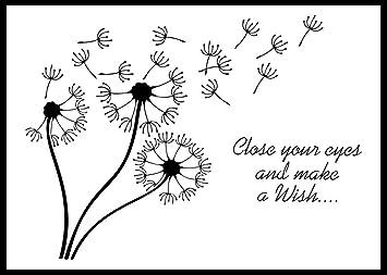 Schablone Pusteblume Make A Wish Din A4 Amazon