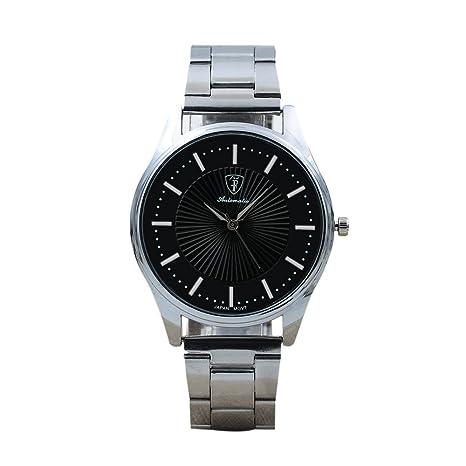 HULKY reloj de pulsera deportivo de cuarzo de acero inoxidable de lujo, con mecanismo de