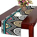 AnnHomeArt native american africa tribe ancient aztec Table Runner Kitchen Dining Party Table Linen Cloth16x72 inch